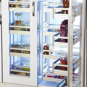 Aluminium Soft Close Twince Pantry Group