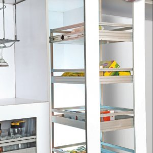 Aluminium Soft Close Pantry Group