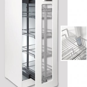 Telescopic Soft Close Wire Pantry Group